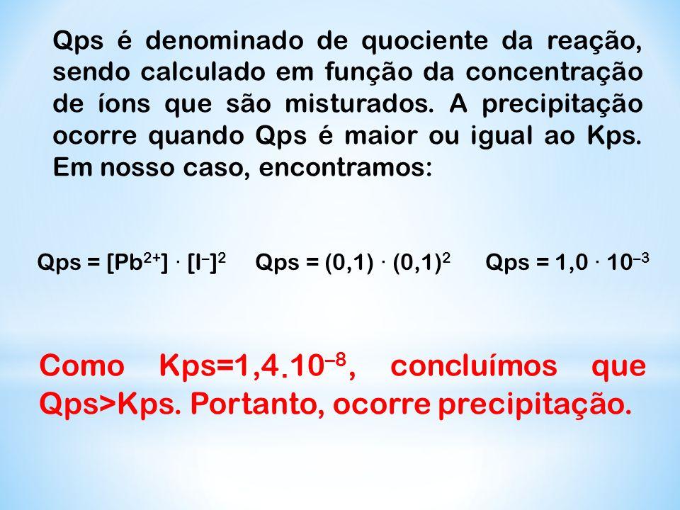 Qps = [Pb2+] · [I–]2 Qps = (0,1) · (0,1)2 Qps = 1,0 · 10–3